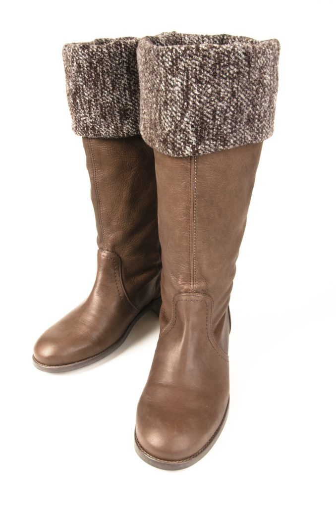 brown tall flat boots