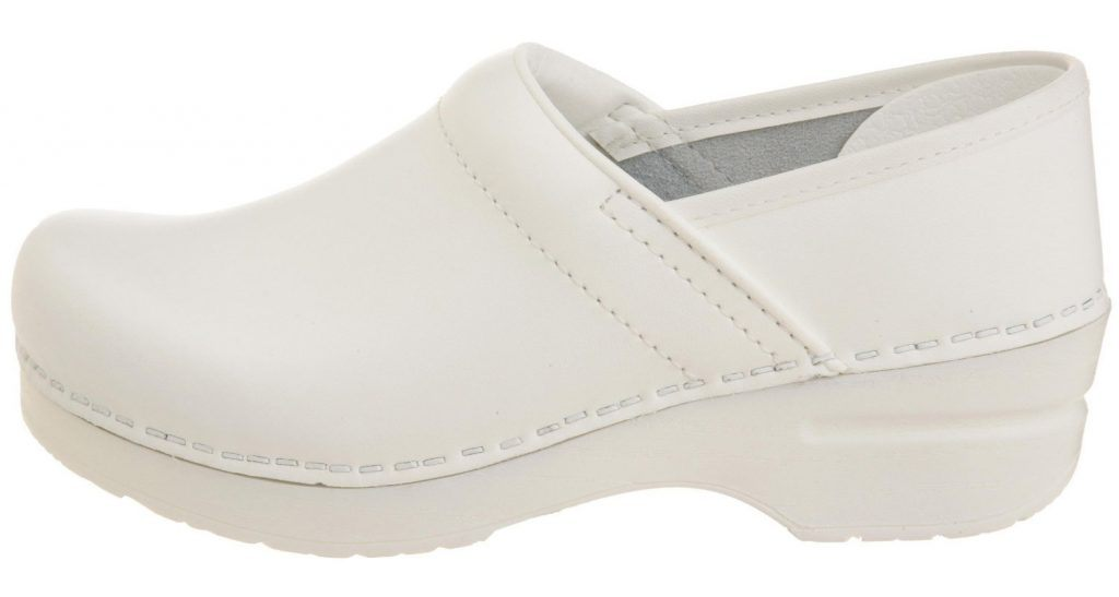 dansko women's clogs white