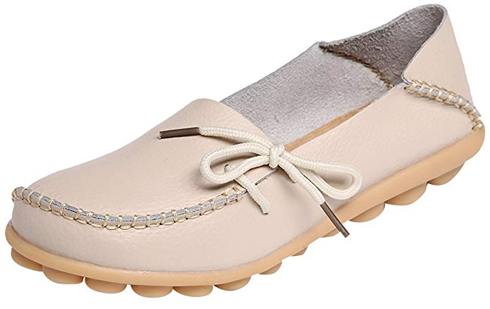 Serene Leather Cowhide Casual Lace-Up Driving Loafers (Women's)