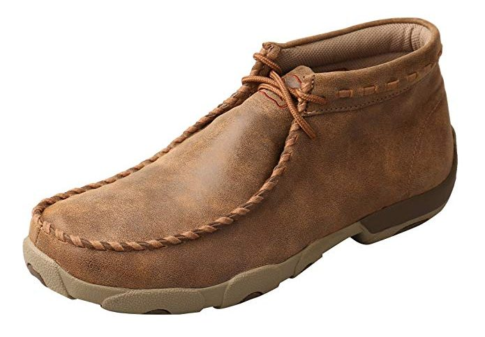 Twisted X Leather Lace-Up Moc Toe Driving Moccasins (Men's)