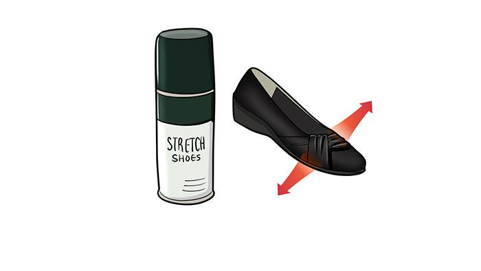 how to break in shoes using strech spray