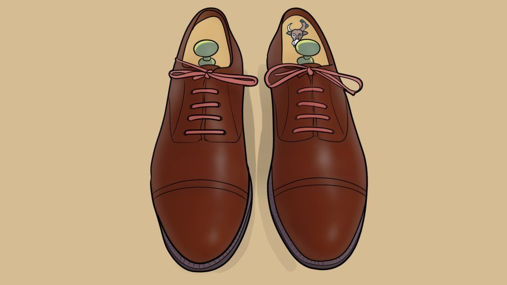 straight bar lacing dress shoes
