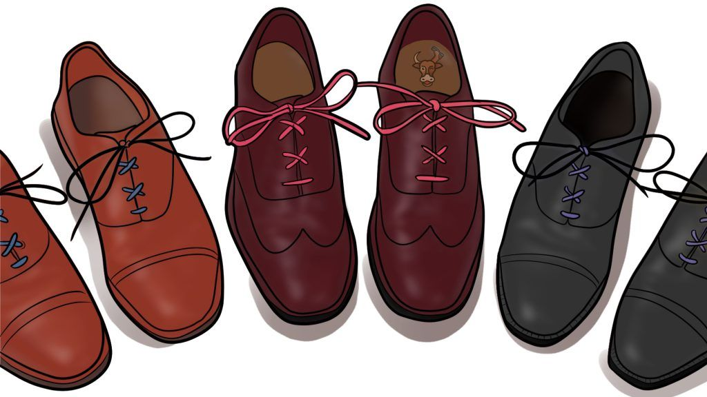 criss-cross lacing dress shoes