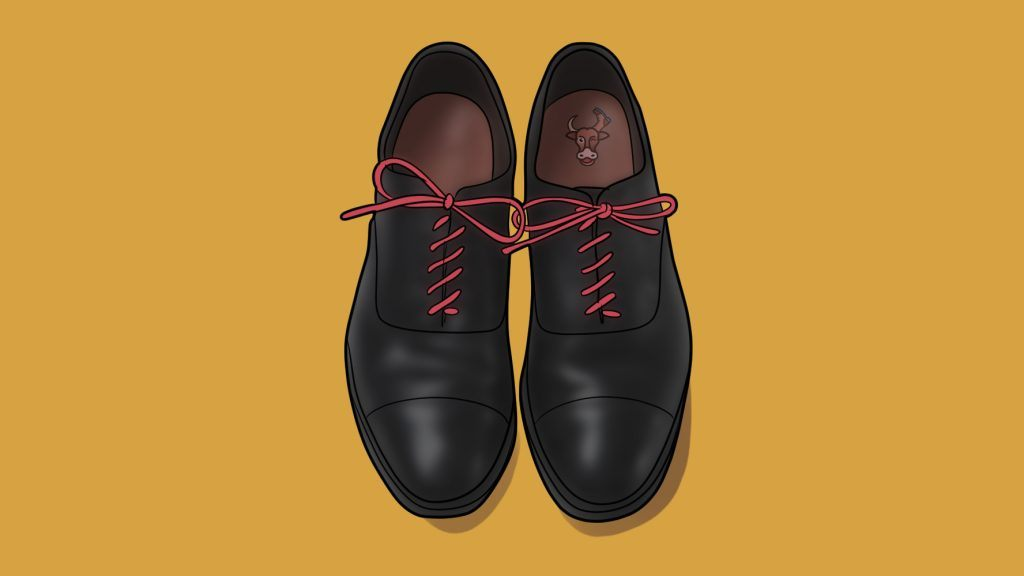 diagonal lacing dress shoes